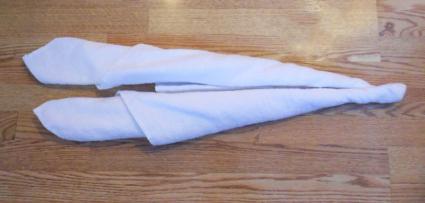 towel swan step 2