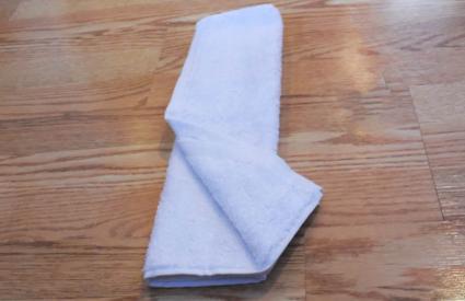 towel cat step 6