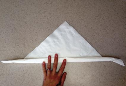 Rolling napkin