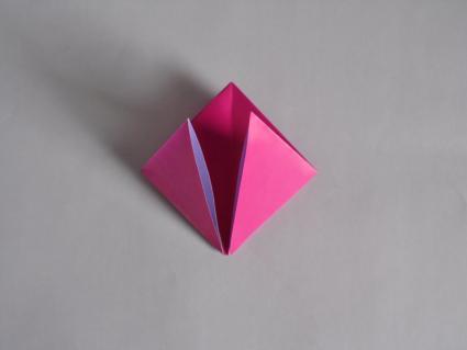 origami tulip step 2