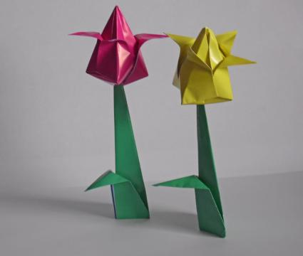Tulip origami instructions tulips mightylinksfo