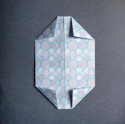 A variation of paper crane (rectangular paper) - YouTube | 421x425