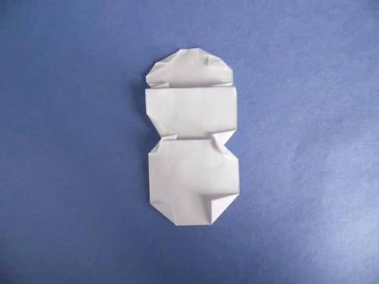 origami snowman 04