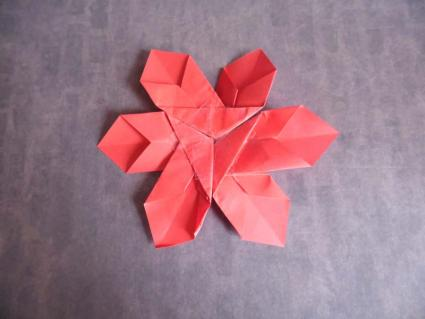 folded paper poinsettias instructions