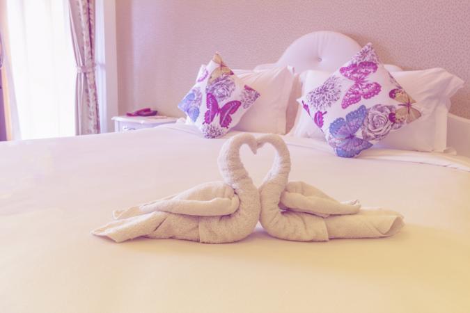 Folded Towel Swan