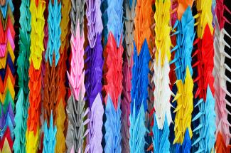 Traditional Japanese Thousand Origami Cranes