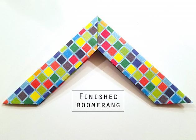 finished boomerang
