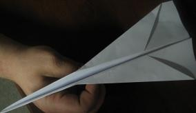 origami airplane