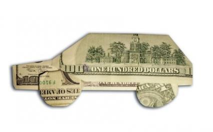 money origami car