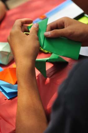 origami hands