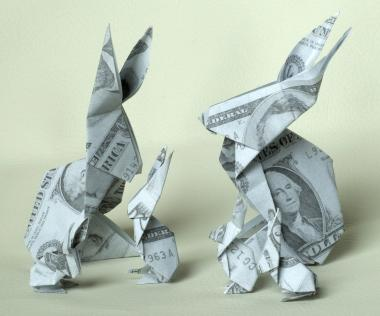 How to fold a money origami rabbit the art of orikane in japan money origami mightylinksfo