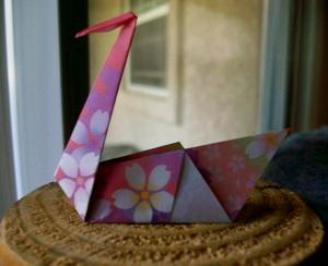 Traditional Origami Swans