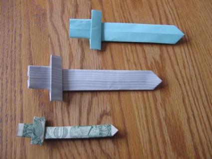 Origami Sword Visual Instructions | LoveToKnow