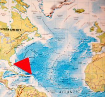 Map of the Bermuda Triangle.