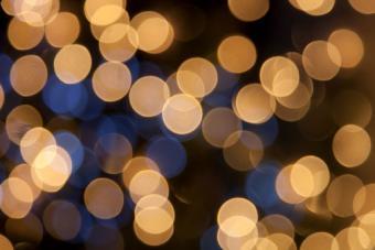 Golden light orbs