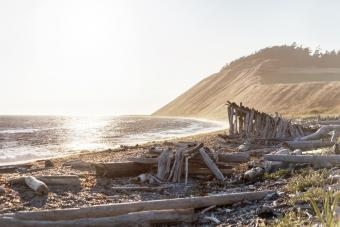 Ebey's Landing at sunset