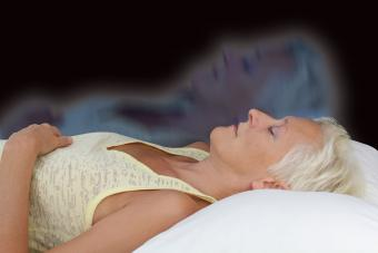 Representation of woman doing astral projection
