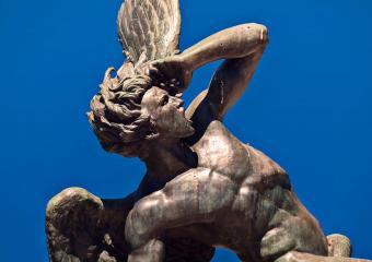 Fountain of the Fallen Angel in Madrid