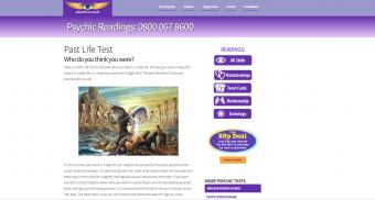 Screenshot of Psychics website