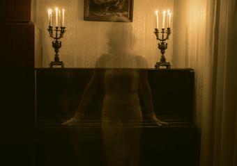 Sepia piano ghost