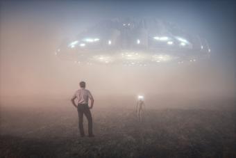 Farmer meets alien at night