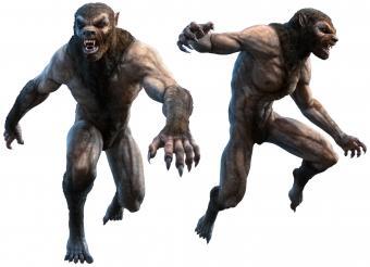 Rendering of werewolves