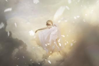 Dancing angel in heaven