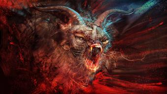 artist's rendering of a demon