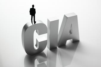 CIA words with man's silhouette