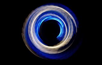 Blue White Abstract Circular Light