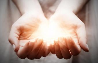 Magic in woman hands