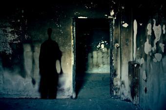 Dilapidated room with paranormal phenomena