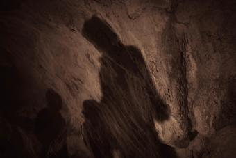 Shadows in a cave