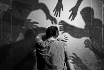 Shadows and apparitions haunting man
