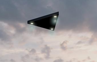 Triangular shaped ufo