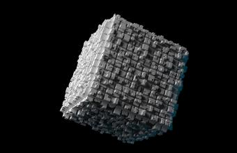 Cube with extruded surface