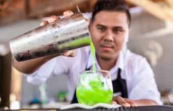 Male Bartender Preparing Cocktail
