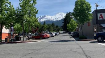 Mount Shasta from downtown Mt. Shasta