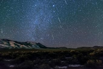 Meteor shower in rural Utah