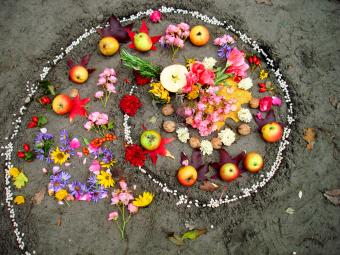 Witchcraft and Wiccan altar