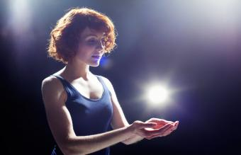 Young woman with light