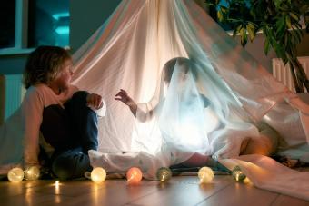 Kid playing with ghost