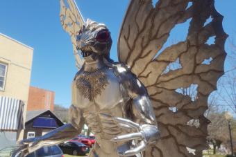 Mothman Statue in Point Pleasant, WV