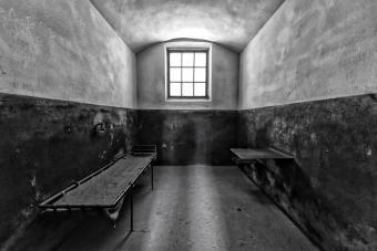 Shadows at a prison