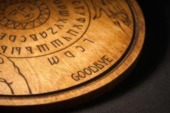 A Ouija Board focusing on the goodbye