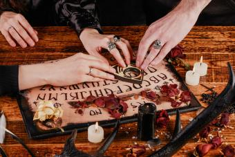 People starting a ouija board session