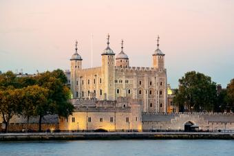 London tower at Thames River water front