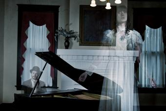Ghosts playing piano