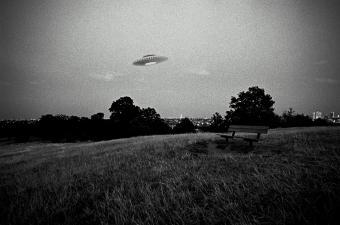 UFO in flight