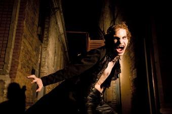 Male Vampire Hissing at the Camera